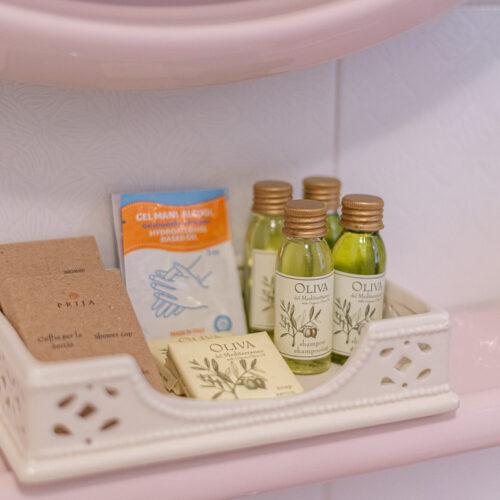 Junior Suite - Prodotti da bagno a base di olio di oliva e gel igienizzante mani