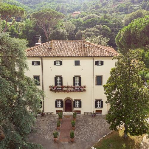 Hotel Villa San Michele - Vista aerea villa e parco